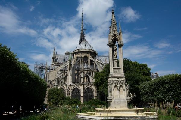 Backside of Notre Dame