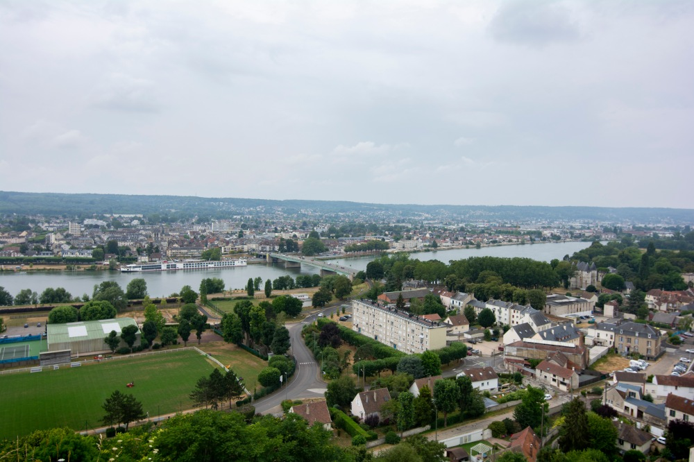 Top of the hill looking out over Rouen