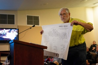 Dennis Arrow, holds up plans